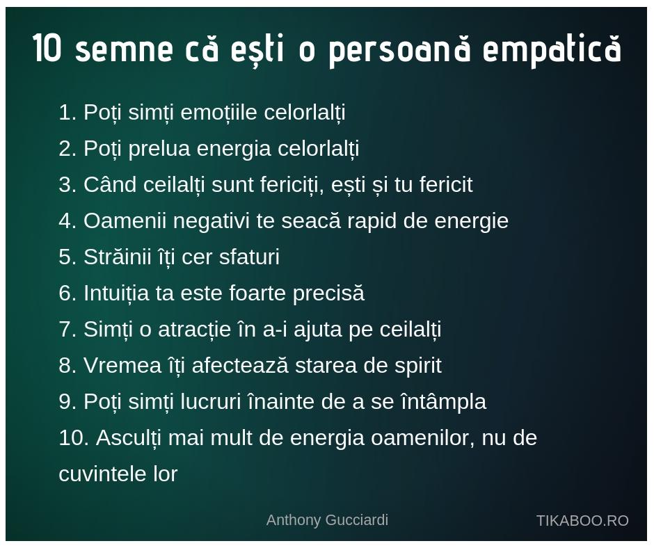 inteligența emoțională - 10 semne ca esti o persoana empatica - empatie