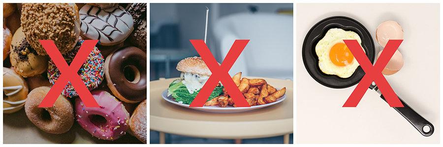 cură de detoxifiere - alimente nesănătoase