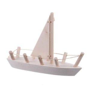 Barcă cu velă mobilă - jucării de lemn - jucării din lemn pentru copii -