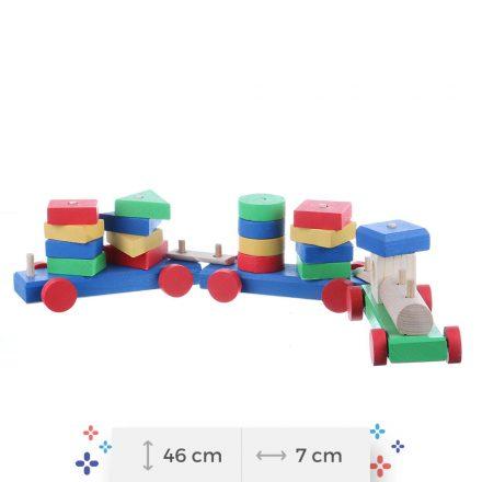 Trenuleţ colorat - jucării din lemn pentru copii