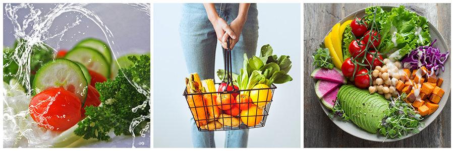 cură de detoxifiere - alimente proaspete, organice, nutritive, legume, fructe