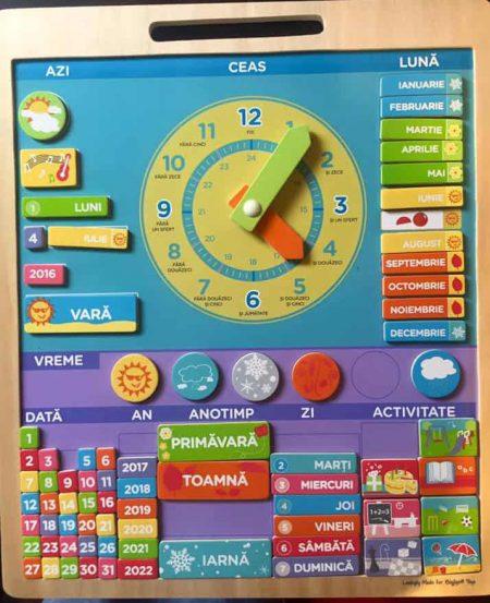 Calendar magnetic - jucării de lemn - jucării din lemn pentru copii -