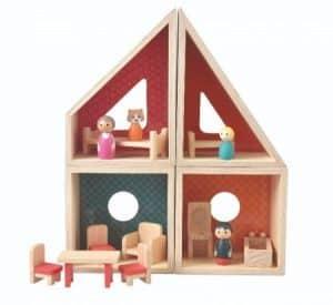 jucării din lemn pentru copii - - casa din lemn