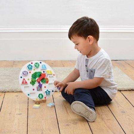 Ceas Omida mâncăcioasă - jucării de lemn - jucării din lemn pentru copii -