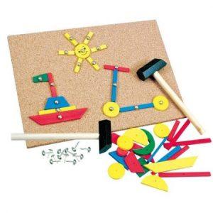 Set creativ cu ciocan - jucării de lemn - jucării din lemn pentru copii -
