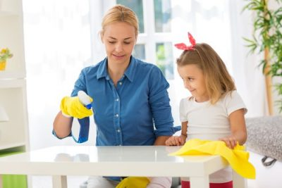 casa inainte si dupa - jocuri pentru copii in casa