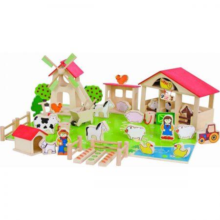 jucării din lemn pentru copii - ferma veselă