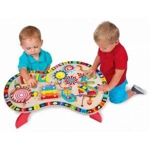 Măsuţă cu activităţi - jucării de lemn - jucării din lemn pentru copii -