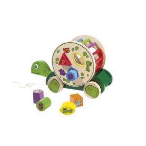 jucării din lemn pentru copii - broasca testoasa din lemn