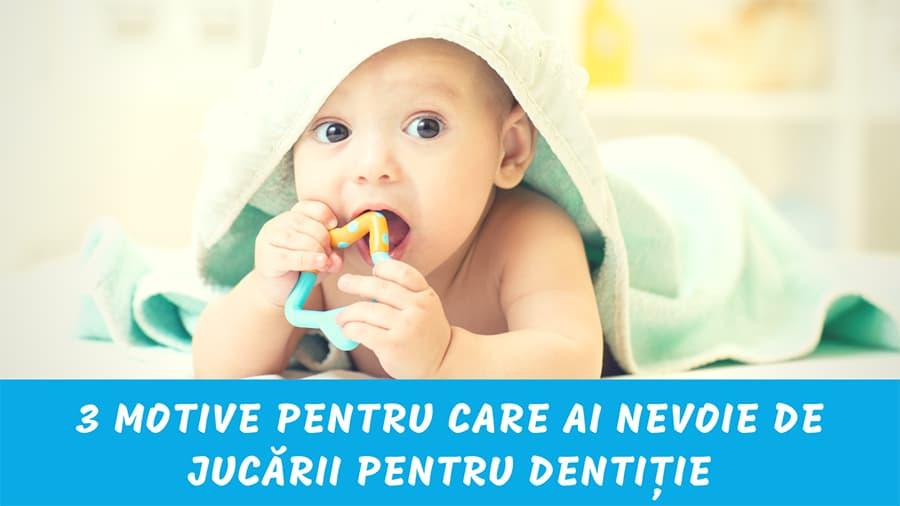 Jucării pentru dentiţie – Diminuează-i durerea gingivală