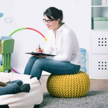 copilul stresat la psiholog