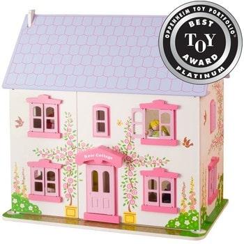 Căsuță pentru păpuși din lemn Rose- Bigjigs - Best Toy Award