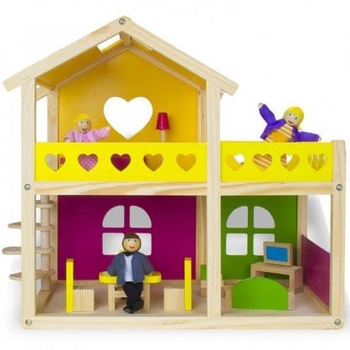 Căsuța pentru păpuși Tooky Toy - o căsuță care ajută la dezvoltarea copilului tău.