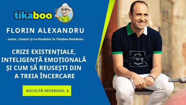 Tikaboo Podcast Ep. 1 – Florin Alexandru – Autor, creator și co-fondator la Tikaboo România vorbește despre crize existențiale, inteligența emoționala și cum să reușești din a treia încercare 3
