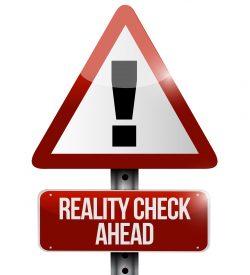 reality check ahead sign