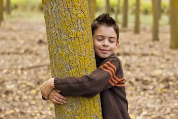 copil in natura