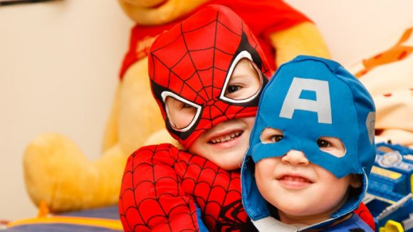 children superhero costume playing