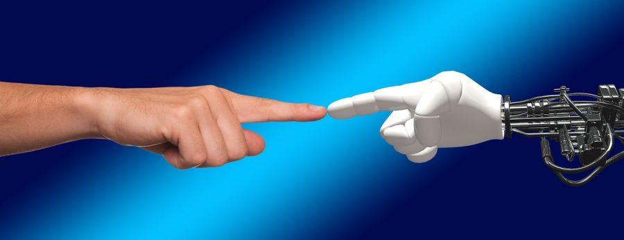 hand robot human
