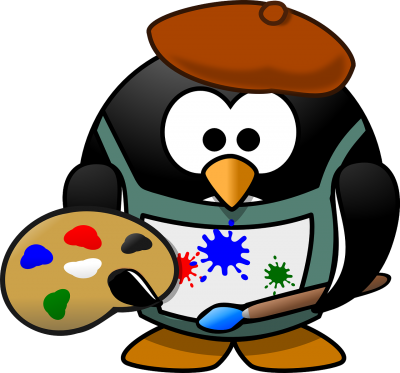 penguin painter draw