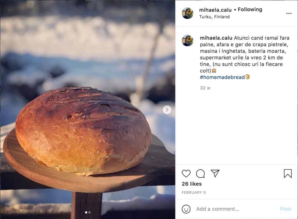 Postare instagram, 5 Februarie, Mihaela Calu